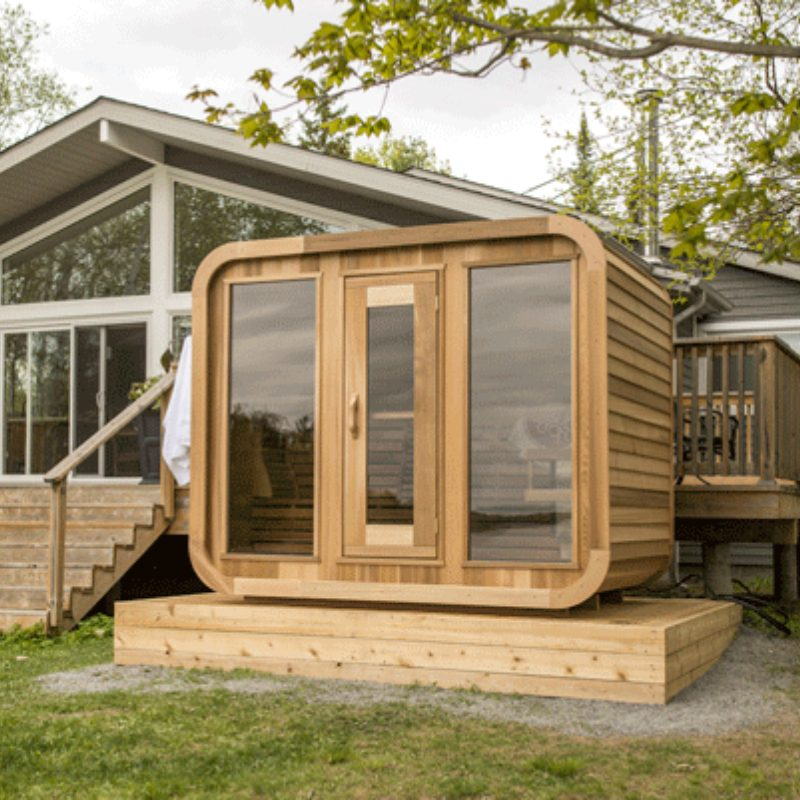 Outdoor Sauna Package Deals - Red Cedar Luna Sauna